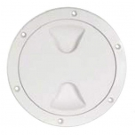 Paadi inspektsiooniluuk plastik, ümar, valge 102x147mm