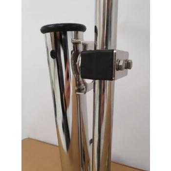 Roostevaba ridvahoidja ülakinnitusega plasthülsiga, 25mm reelingule