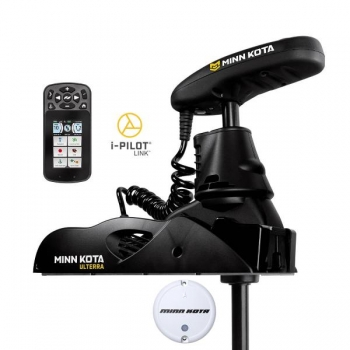 Electric Bow Mount Remote Control MINN KOTA Ulterra-112 iPilot Link, US2, 60'' leg, 36V, Bluetooth, remote control, wired foot control, black, fresh water