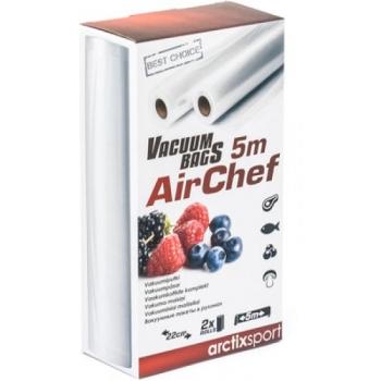 Vaakumkott ARCTIXSport AirChef pakendajatele, rull 5m x 22cm, 2 rulli pakis