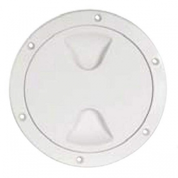 Paadi inspektsiooniluuk plastik, ümar, valge 125x172mm