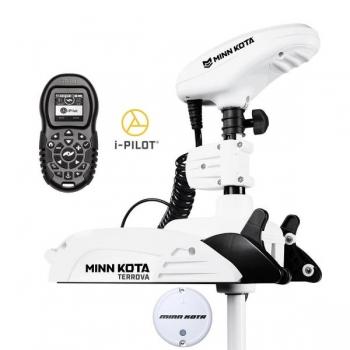 "Electric Bow Mount Remote Control MINN KOTA Riptide Terrova-80 iPilot, 54"" leg, 24V, Bluetooth, white, salt water"