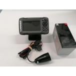 Kajalood LOWRANCE Hook2-4x GPS koos talianduriga ja 7Ah 12V akuga, garantii