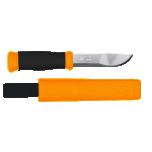 Pussnuga MORAKNIV 2000 Hi-Vis Orange,  11cm laia õhukese otsaga tera, plasttupp