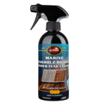 Marine Teakwood Cleaner for thorough cleaning of soiled and/or grey wooden surfaces on boats or outdoors. Low odour, good penetration and therefore good cleaning properties.