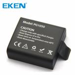 Komplekt 2 akut ja väline laadija EKENi, GoPro ja SJCAM seikluskaameratele