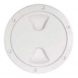 Paadi inspektsiooniluuk plastik, ümar, valge 152x205mm