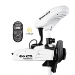"Electric Bow Mount Remote Control MINN KOTA Riptide Powerdrive-55 iPilot, 54"" leg, 12V, Bluetooth, white, salt water"