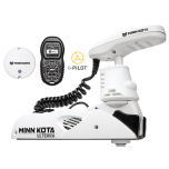 "Electric Bow Mount Remote Control MINN KOTA Riptide Ulterra-112 iPilot, 60"" leg, 36V, Bluetooth, white, salt water"