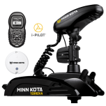 "Electric Bow Mount Remote Control MINN KOTA Terrova-112 iPilot, US2 sonar, 60"" leg, 36V, Bluetooth, Wired Foot Control, black, fresh water"